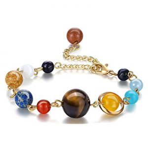 One Day Only!50.0% off Fesciory Women Solar System Bracelet Universe Galaxy The Eight Planets Guar..