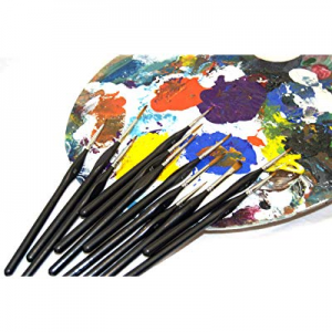Creative Colors Miniature Paint Brushes Professional Detail Set 12pc- Zipper case Included now 10...
