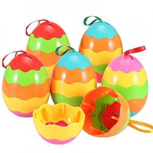 Jumbo Take Apart Easter Eggs 6 Pack - Rainbow Easter Eggs Great for Easter Basket Stuffers now 50...