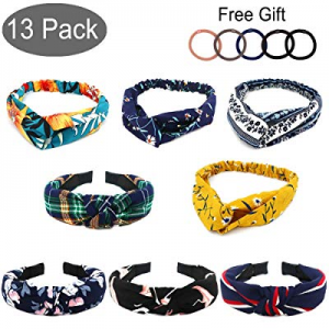 30.0% off APREUTY 8 Pack Wide Headbands Knot Turban Headband Hair Band w/ 5 Pack Elastic Bandana H..