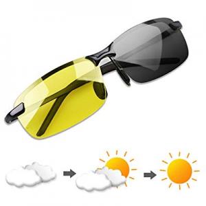 20.0% off YIMI Polarized Photochromic Outdoor Sports Sunglasses for Men and Women Anti Glare UV400..