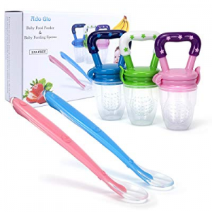 Baby Food Feeder - 3-Pack Fresh Fruit Feeder now 20.0% off , Infant Teething Toy Silicone Feeder w..
