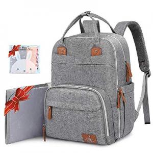 Diaper Bag Backpack now 30.0% off , BabbleRoo Neutral Travel Back Pack for Mom & Dad, Large Capaci..