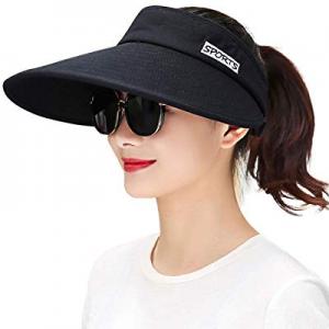 Maylisacc Wide Brim Sun Visors for Women Packable Sun Hat Beach Golf Gardening Topless-Hat now 20...