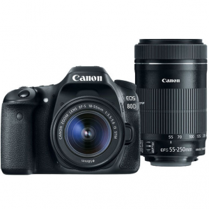 Canon 80D Camera + EF-S 18-55 Lens + 55-250 IS STM Lens (Refurb) @ Canon