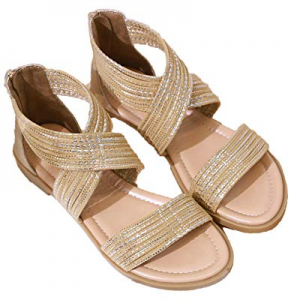 Yozai Womens Summer Crisscross Ankle Strap Flat Sandals Shoes now 70.0% off