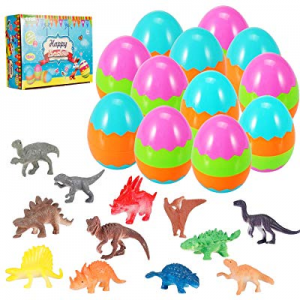 Easter Eggs Filled with Mini Dinosaurs now 50.0% off , Perfect for Easter Basket, Party Favors, Ea..