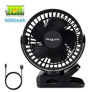 Clip on Fan now 30.0% off , 5000mAh Large Battery Powered Fan USB Rechargeable for Baby Stroller H..