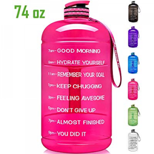 30.0% off Venture Pal Large 128oz/74oz Leakproof BPA Free Fitness Sports Water Bottle with Motivat..