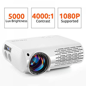 Crenova Video Projector now 19.0% off , 5000 Lux Home Movie Projector(550 ANSI), 200'' Display HD ..