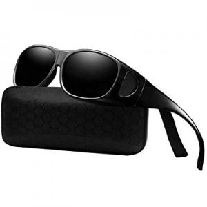 Wear Over sunglasses for men women Polarized lens,fit over Prescription Glasses UV400 now 70.0% off