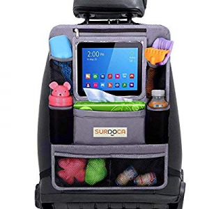 Car Back Seat Organizer for Kids now 35.0% off , SURDOCA 4th Generation Enhanced Car Organizer Bac..