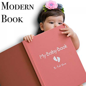 Baby Memory Book for Girls Modern Journal Keepsake Scrapbook for First 5 Years now 50.0% off