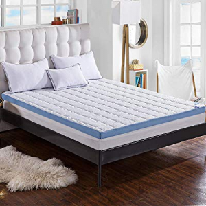"Comfort & Relax 3-inch Foam Mattress Topper with Ultra Soft Cover, King Size, 75.5"" x 79"" now 50.0.."