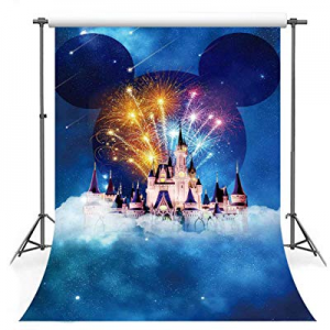 One Day Only!50.0% off F-FUN SOUL Cartoon Backdrop Dream Castle Meteor Fireworks Amusement Park Ba..