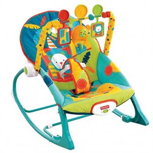 Fisher-Price Infant-to-Toddler Rocker, Dark Safari @ Amazon