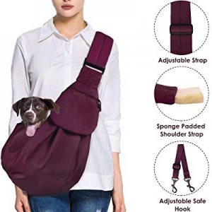 AutoWT Dog Padded Papoose Sling now 20.0% off , Small Pet Sling Carrier Hands Free Carry Adjustabl..