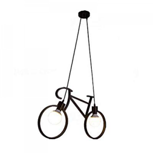 15.0% off Injuicy Modern Bicycle Metal Iron Pendant Lights Shade E27 Edison Led Bike Ceiling Lamps..