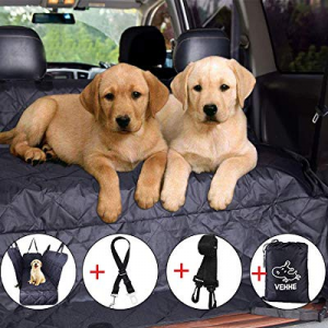 20.0% off VEHHE Dog Car Seat Covers Pet Seat Cover Hammock for Back Seat - 100% Waterproof Scratch..