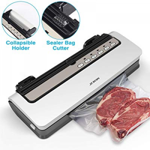 20.0% off JZBRAIN Vacuum Sealer | Automatic Air Sealing Machine For Food Saver w/Starter Kit | Com..