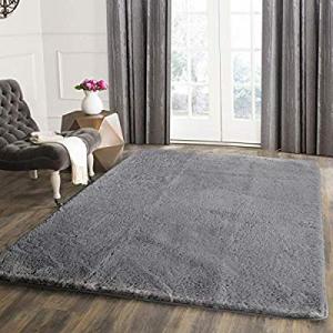 Seavish Shag Area Rug 3x5 Ultra Soft Faux Angora Rabbit Fur Small Accent Rug Luxury Fluffy Bedside..