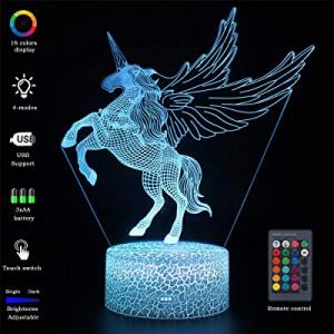 VANSIHO Unicorn Lamp now 40.0% off , Unicorn 3D Night Light Led Illusion Lamp for Kids Girls Boys ..