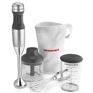 KitchenAid KHB2351CU 3-Speed Hand Blender - Contour Silver for $34.99 @Amazon