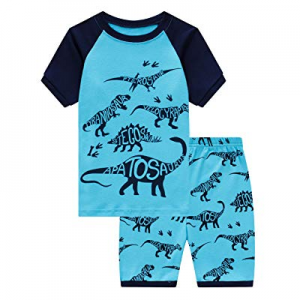 One Day Only!Family Feeling Little Boys Train 2 Piece Pajamas Shorts 100% Cotton now 50.0% off