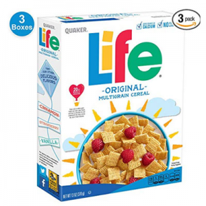 3-Pack Quaker Life Cereal for $4.34 or Less for prime member  @ Amazon.com