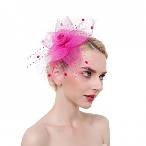 50.0% off NEW YOUNG Fascinator Hair Clip for Women Headwear Feather Fascinator hat Wedding Party C..