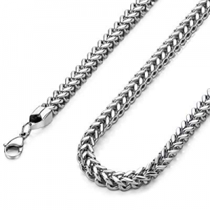 40.0% off Monily High Polished 3mm 16 Inches Stainless Steel Franco Curb Chain Necklace Mens Women..