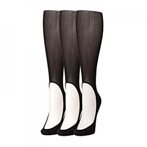 Keysocks Knee High Nylon No-Show Socks Barely There 3 Pack Bundle now 30.0% off