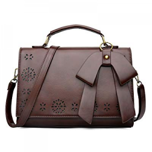 40.0% off Coofig Women Small Top Zipper Oil Leather Satchel Shoulder Bag Vintage Crossbody Messeng..