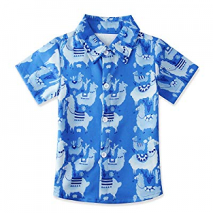 uideazone Kids Boys Hawaiian Shirt Summer Short Sleeve Button Down Aloha Shirts 2-8 Years now 40.0..