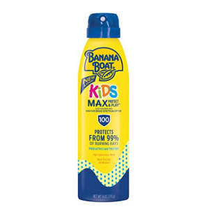 Banana Boat UltraMist Kids MAX Protect & Play Clear Spray Sunscreen SPF 100: 6 oz @ Amazon