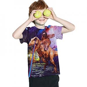 35.0% off UNICOMIDEA Kids Boys T-Shirts Crew Neck Tees with 3D Print Graphic Short Shirts Slim Top..