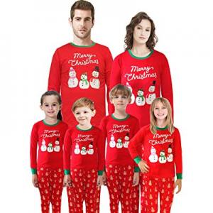 Matching Family Pajamas Christmas Santa Claus Sleepwear Cotton Kids PJs now 60.0% off