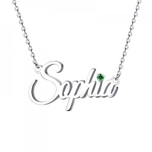 MeMoShe Name Necklace Personalized now 80.0% off , Custom Made Nameplate Necklace Dainty Sterling ..