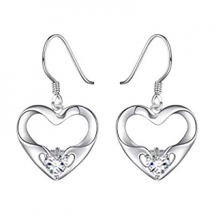 Sterling Silver Irish Celtic Knot Claddagh Lover Heart Shaped Pendant Necklace Bracelet Earrings n..