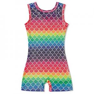 45.0% off Idgreatim Little Girls Gymnastics Leotard with Shorts 3D Graphic Sparkly Dance Biketard ..