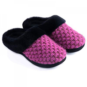 One Day Only!Zigzagger Women's Knit Style Breathable Memory Foam Slippers now 40.0% off
