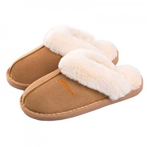 55.0% off SOSUSHOE Women Slippers Fluffy Fur Slip On House Slippers Soft and Warm House Shoes for ..