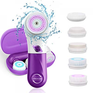 UMICKOO Facial Cleansing Brush with 5 Face Brush Heads now 50.0% off ,Waterproof Spin Cleansing Sy..