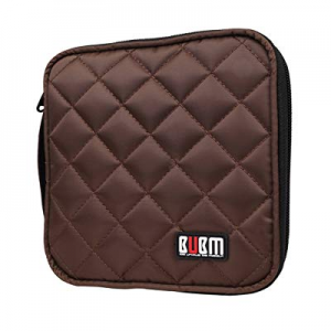 BUBM CD Case 32 Capacity CD/DVD Carrying Case DVD Storage Organizer Case VCD Wallets now 50.0% off