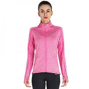 MotoRun Women's Running Jacket Lightweight Full Zip Up Yoga Workout Jacket now 55.0% off