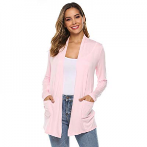POGTMM Women's Casual Lightweight Summer Open Front Long Sleeve Cardigans with Pockets now 20.0% o..