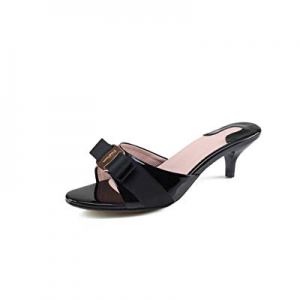 Ruiatoo Women's Stilettos Heels Fashion Open Toe Pump Leather Heeled Dress Sandal now 65.0% off