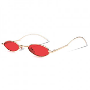 FEISEDY Vintage Small Sunglasses Oval Slender Metal Frame Candy Colors B2277 now 40.0% off