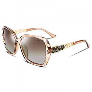 FEISEDY Classic Polarized Women Sunglasses Sparkling Composite Frame B2289 now 35.0% off