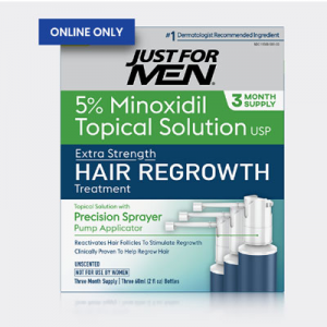 Just for Men Hair Regrowth Solution 3 Month Supply